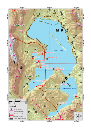 Harte e Detajuar e Shpellave
